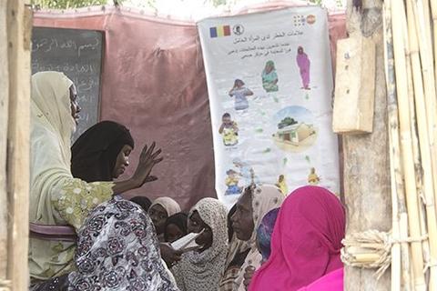 Les femmes prédicatrices encouragent la paix et sensibilisent les femmes  aux droits de santé reproductive. © UNFPA Tchad/Théodore Somda