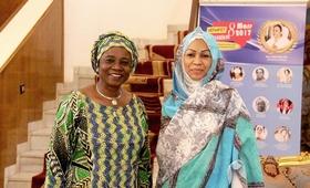 La Première Dame duTchadHinda Déby Itno et  la Représentante Résidente de l'UNFPA Tchad, Dr Edwige AdekambiDomingo.